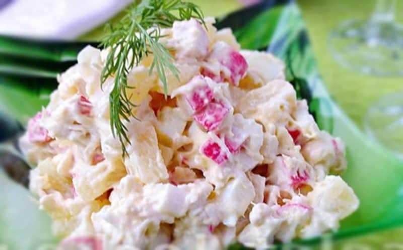Салат с ананасом и крабовыми палочками. рецепты с фото   народные знания от кравченко анатолия