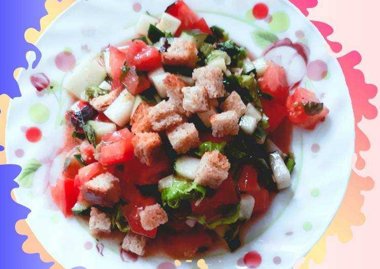 Итальянский салат панцанелла (panzanella)   рецепт с фото