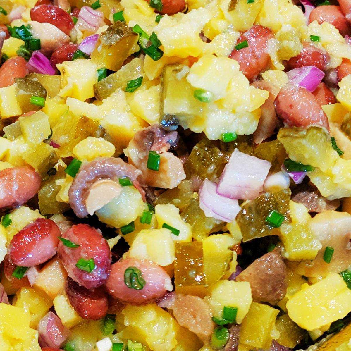 Постный салат с нутом