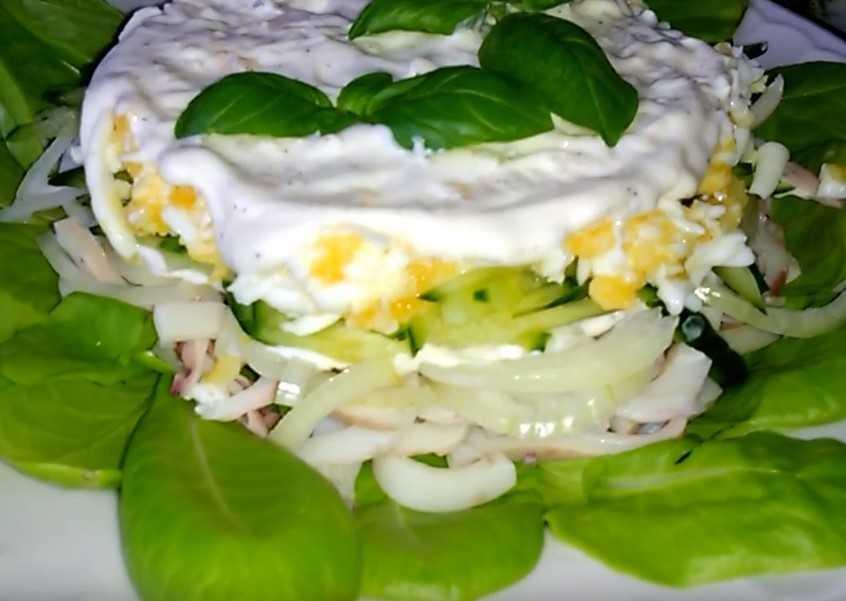Рецепты приготовления очень вкусных салатов из кальмаров, с пошаговыми фото