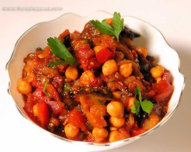 Нут с баклажанами - 33 рецепта: салаты   foodini