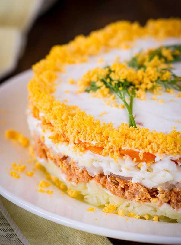 Салат мимоза классический - 9 рецептов приготовления пошагово - 1000.menu