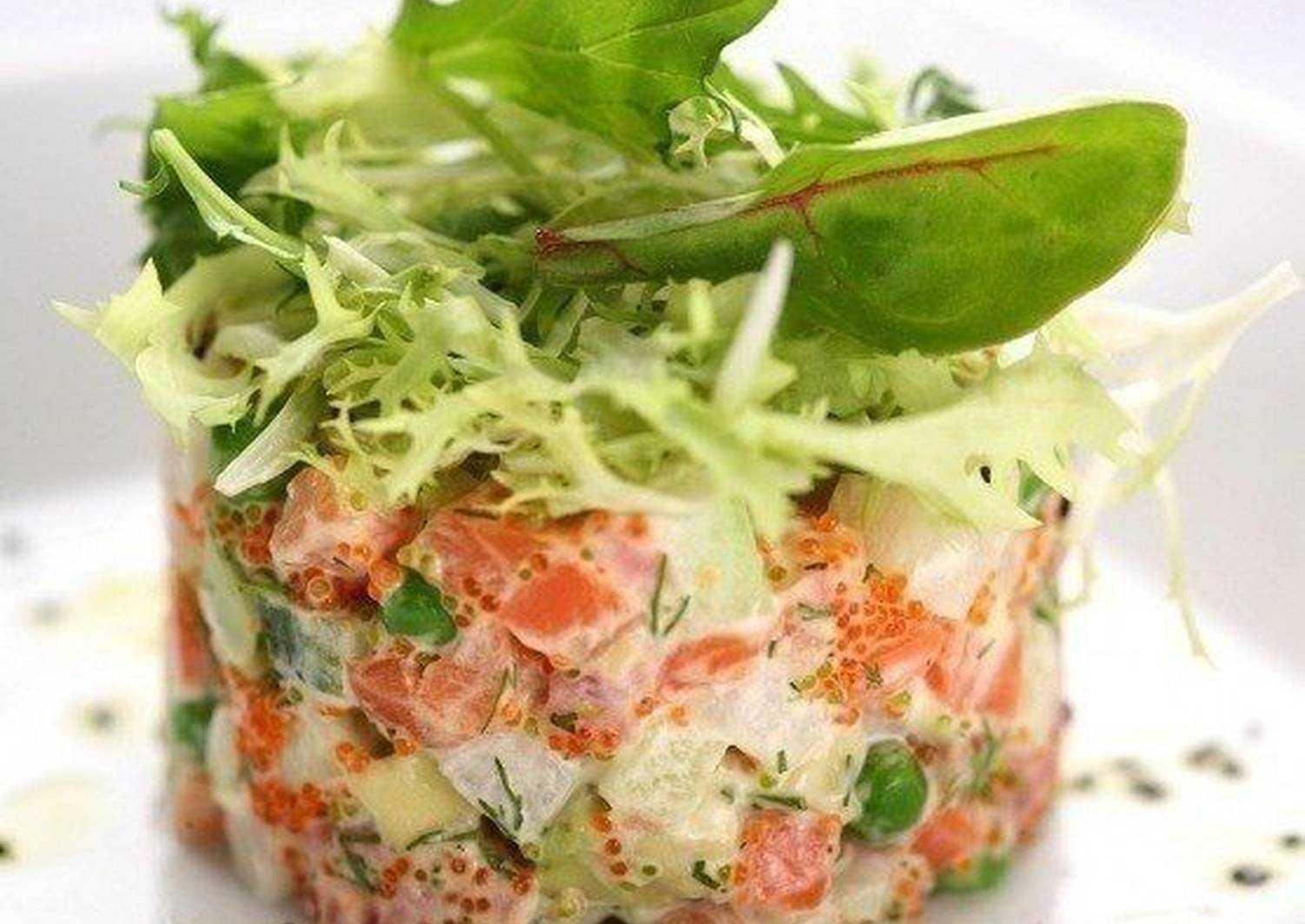 Салат с омлетом - для обеда или перекуса: рецепт с фото и видео