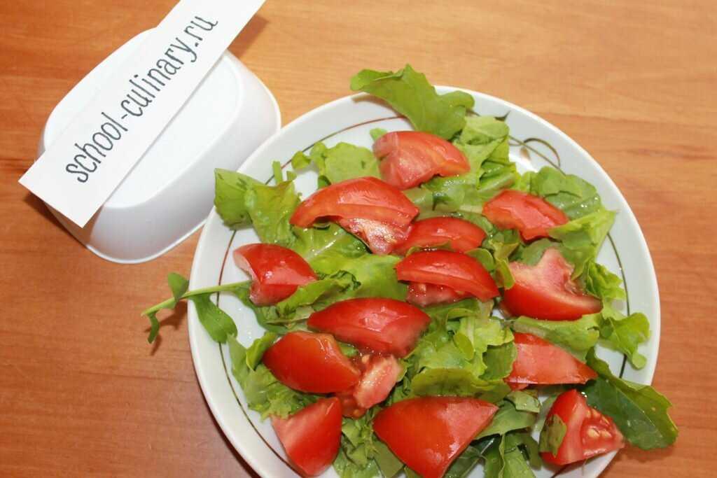 Салат с рукколой и мидиями