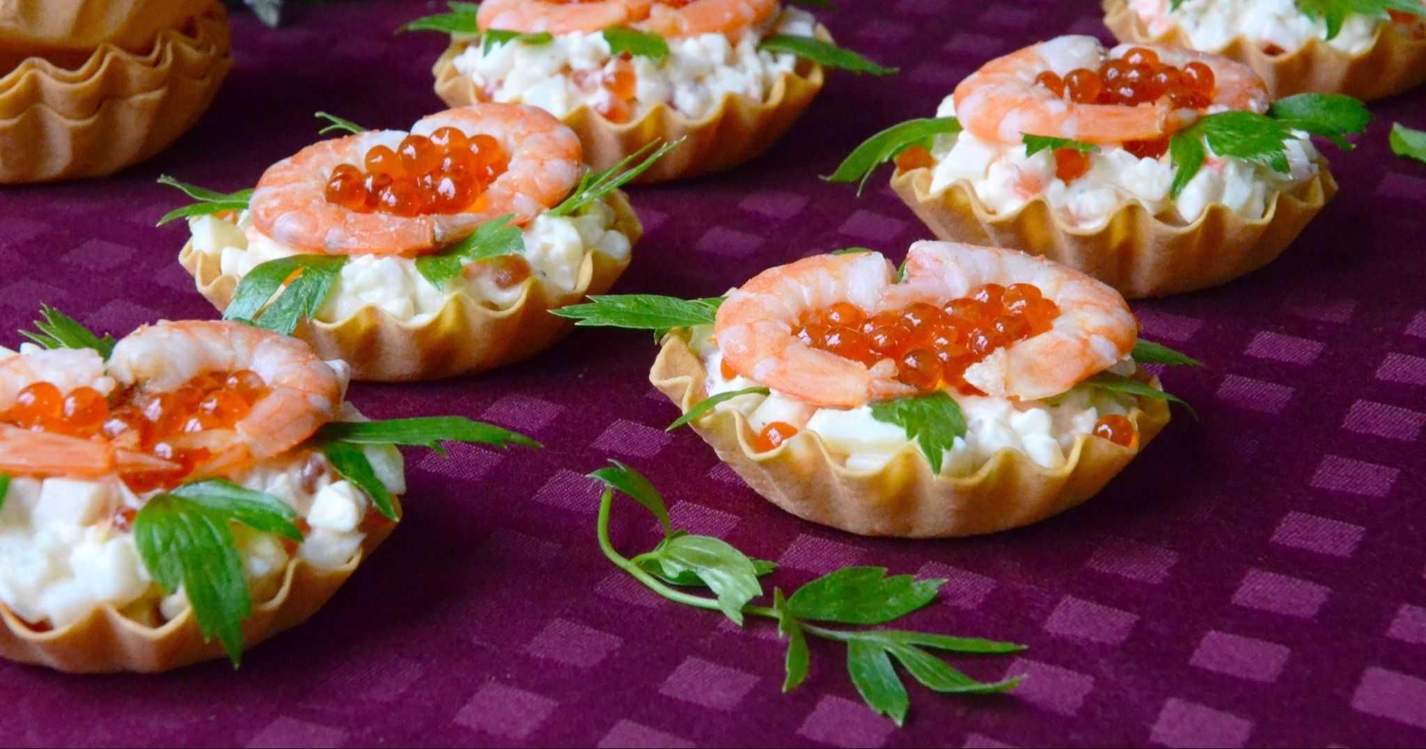 Рецепты тарталетки с креветками