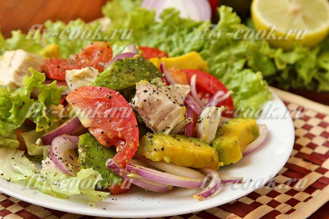 Салат с авокадо и курицей: рецепты с фото пошагово