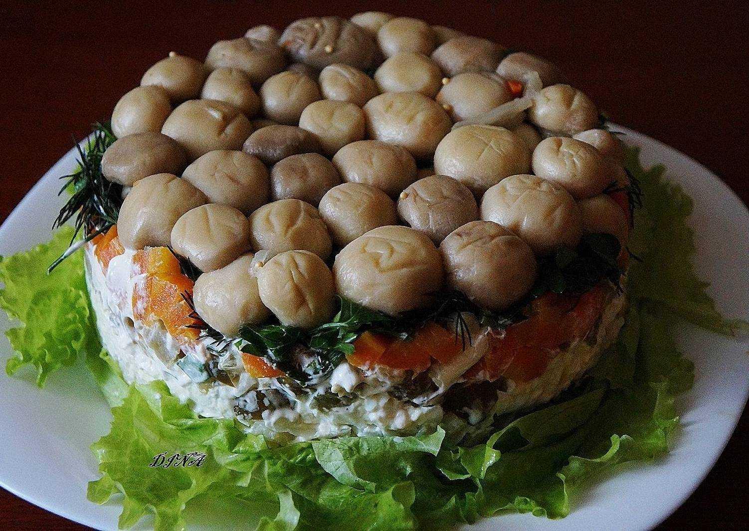 "Салат ""лесная поляна"": рецепт с фото"