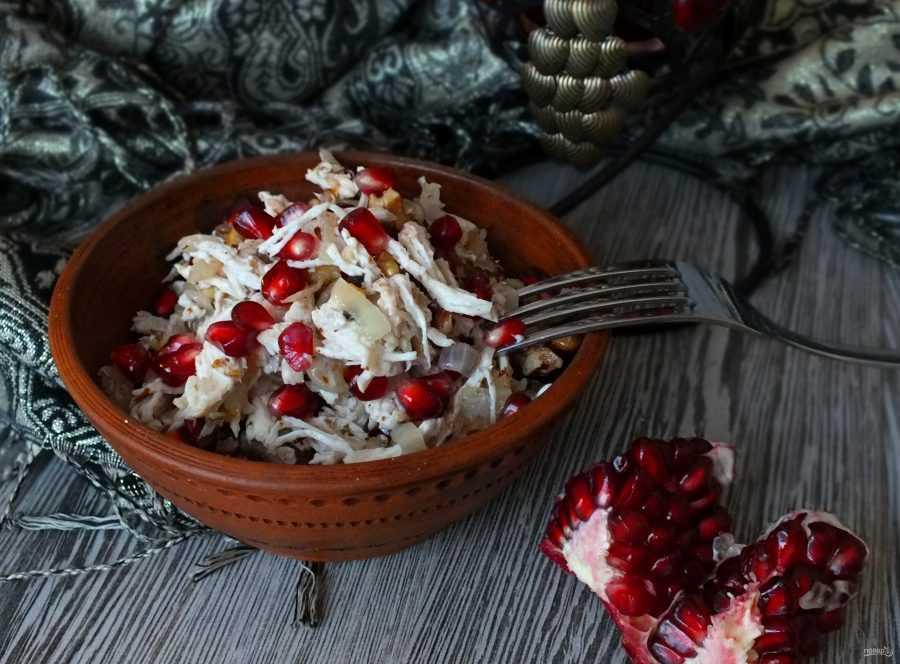 Салат с гранатом и грецким орехом - различные варианты к праздничному столу: рецепт с фото и видео