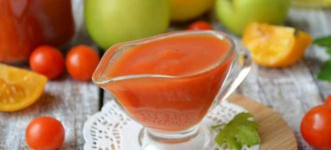 Томатно-сливовый кетчуп пошаговый рецепт