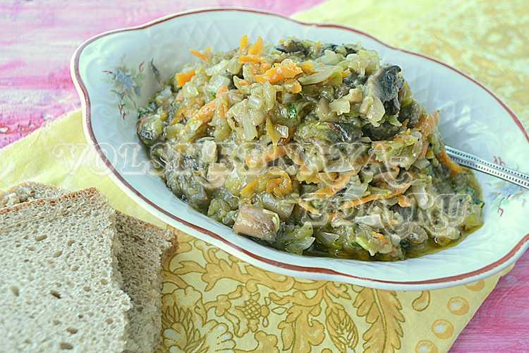 Простой рецепт пошагового приготовления с фото кабачковой икры с грибами на зиму в домашних условиях