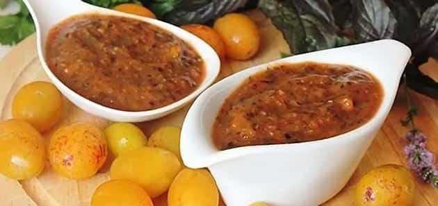 Сливовый соус - рецепты ткемали с томатами, перцем и яблоками