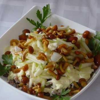 Салат лисичка с курицей рецепт с фото пошагово и видео - 1000.menu
