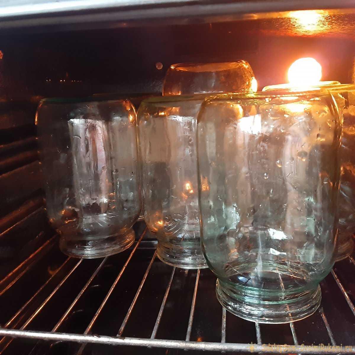 Стерилизация банок в духовке электрической - температура, режим и время