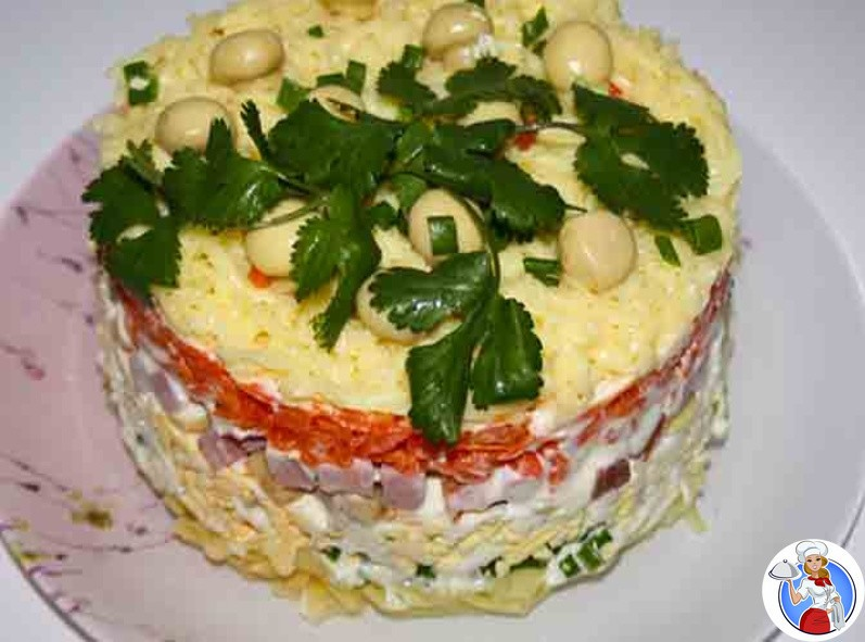 Салат с ветчиной и грибами - 240 рецептов: салаты   foodini