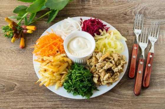 """Рецепт салата """"чафан"""" - 10 пошаговых фото в рецепте"""