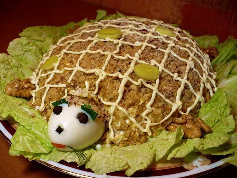 Салат черепашка – удивите гостей: рецепт с фото и видео