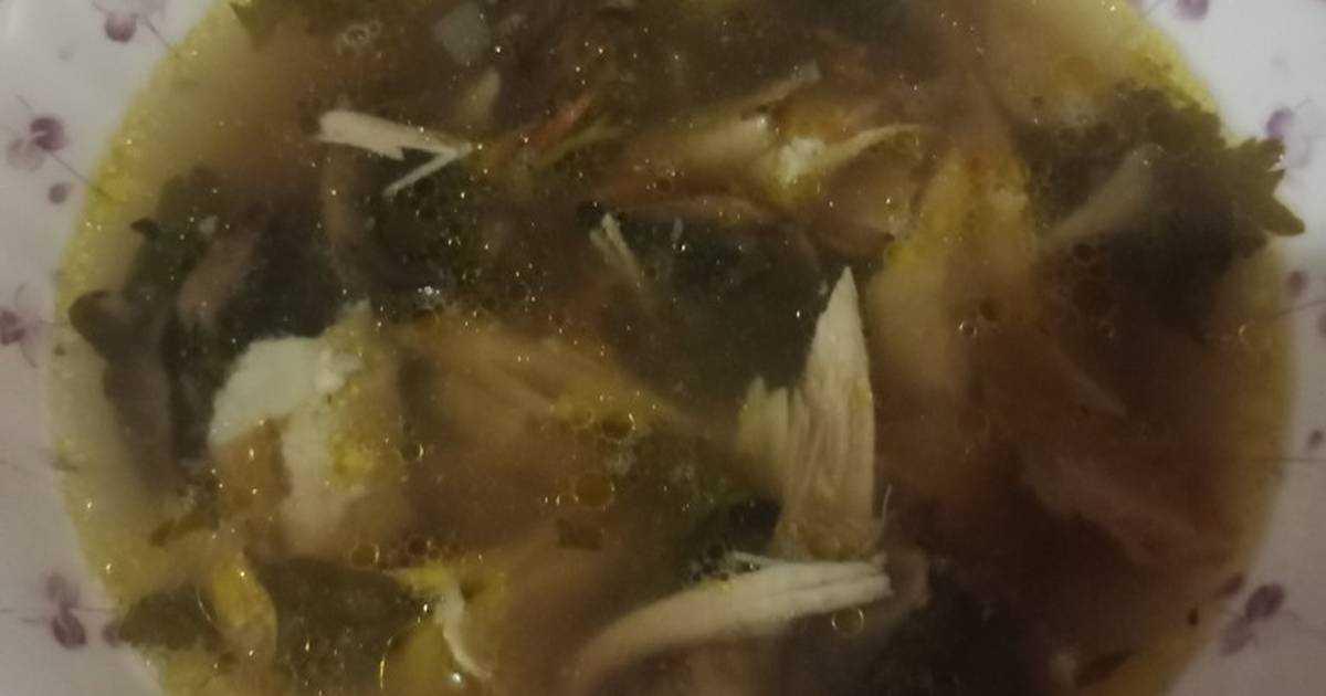 Рецепт грибного супа с шампиньонами и курицей