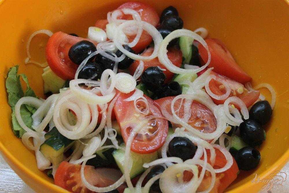 Овощной салат с фетой рецепт с фото пошагово – 1000.menu
