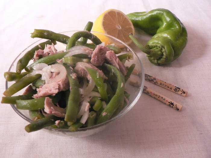 Салат с тунцом консервированным и фасолью, пошаговый рецепт с фото