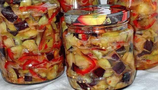 Баклажаны с грецкими орехами и чесноком на зиму