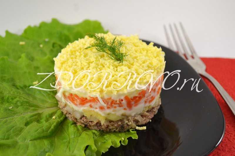 Салат из рыбных консервов - 121 рецепт приготовления пошагово - 1000.menu