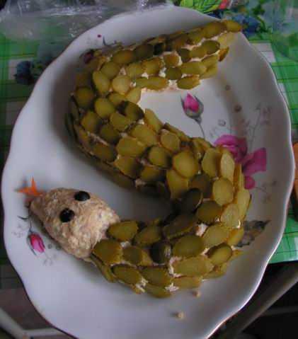 Салат змейка по-русски