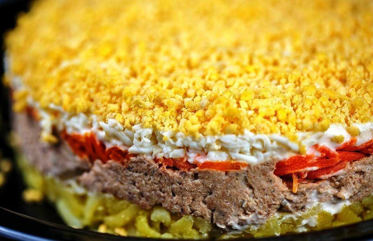 Салат мимоза с сёмгой