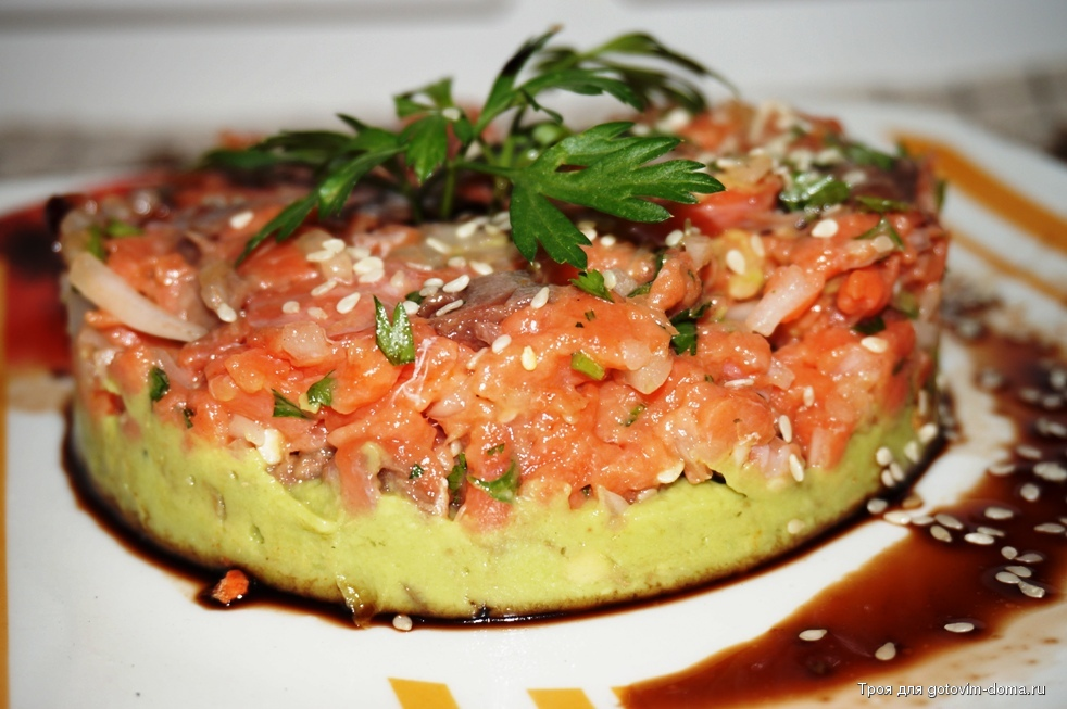 ✅ тар тар из семги с авокадо: тартар из лосося от ивлева - vsengin.ru