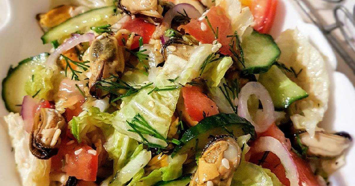 Салат с мидиями консервированными: рецепт с фото очень вкусный