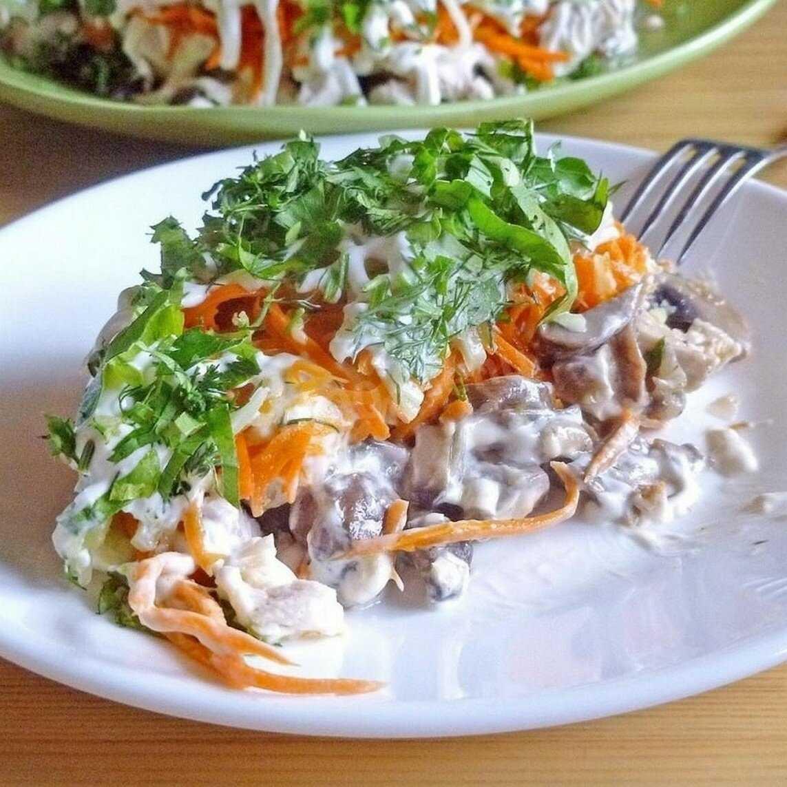 Салат грудка консервированные грибы майонез рецепт с фото пошагово - 1000.menu