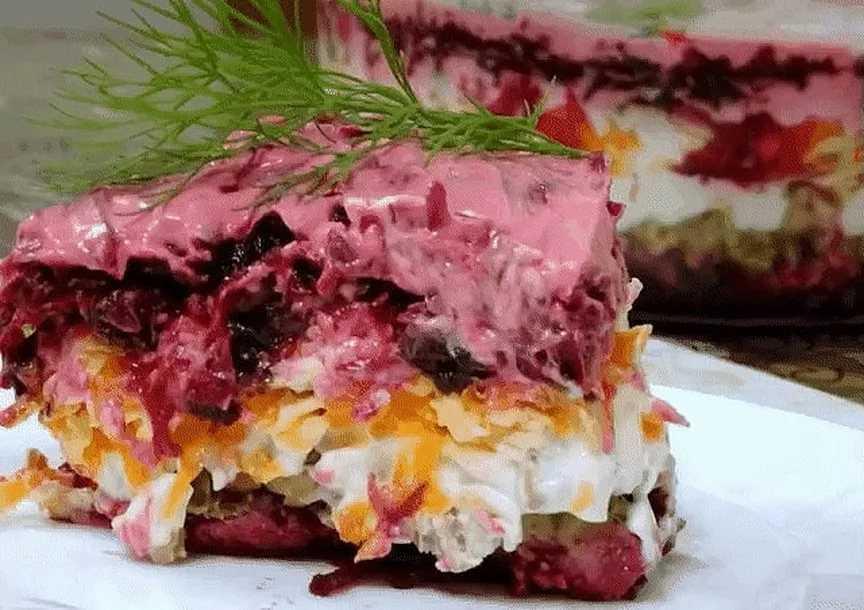 Салат из вареной свеклы - 123 рецепта приготовления пошагово - 1000.menu