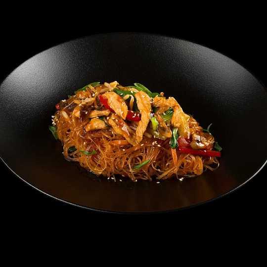 Салат с рисовой лапшой — пошаговый рецепт с фото