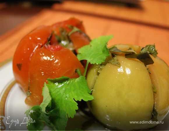 Острые зеленые помидоры дольками на зиму - 8 пошаговых фото в рецепте