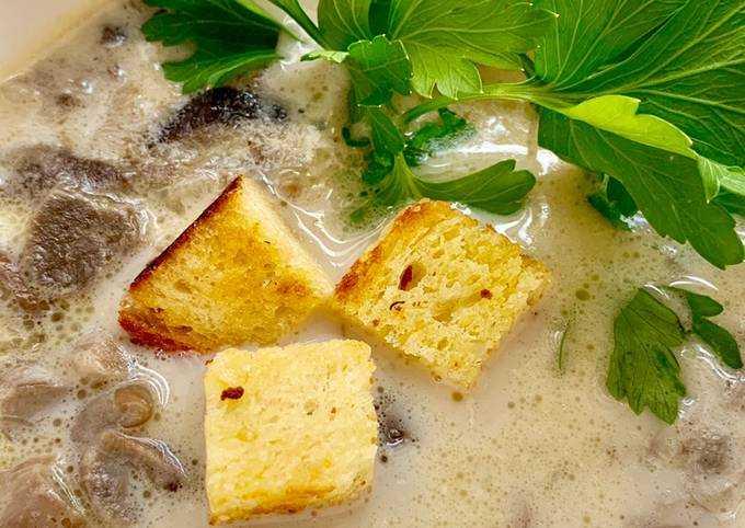 Суп из замороженных подберезовиков: рецепт