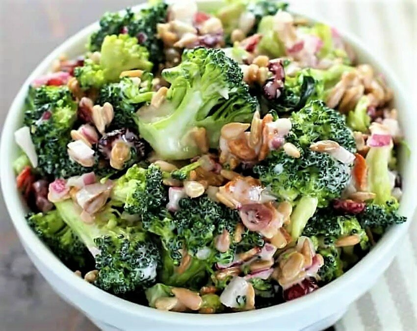 Салат из капусты брокколи: 14 рецептов - 1000.menu