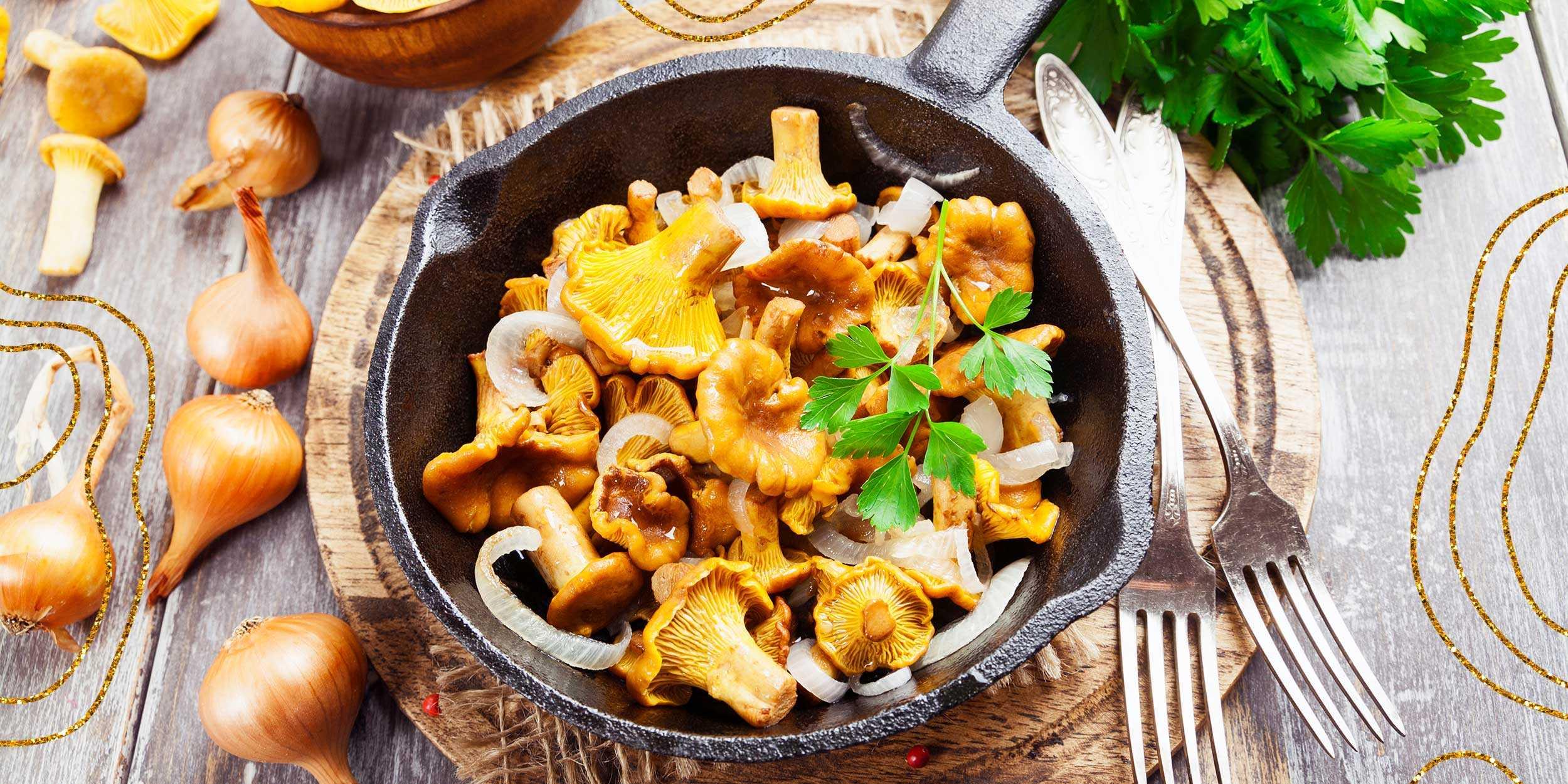Грибы лисички жареные – как приготовить: лучшие рецепты. как пожарить лисички на сковороде с картошкой, луком, морковью, сметаной, сырые, замороженные, вареные, консервированные: рецепты, секреты приг