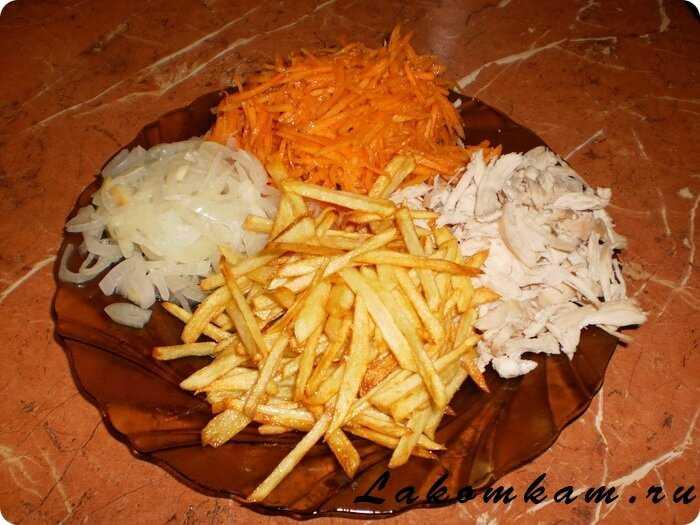 Слоёный салат ромашки на праздничный стол. пошаговый рецепт с фото