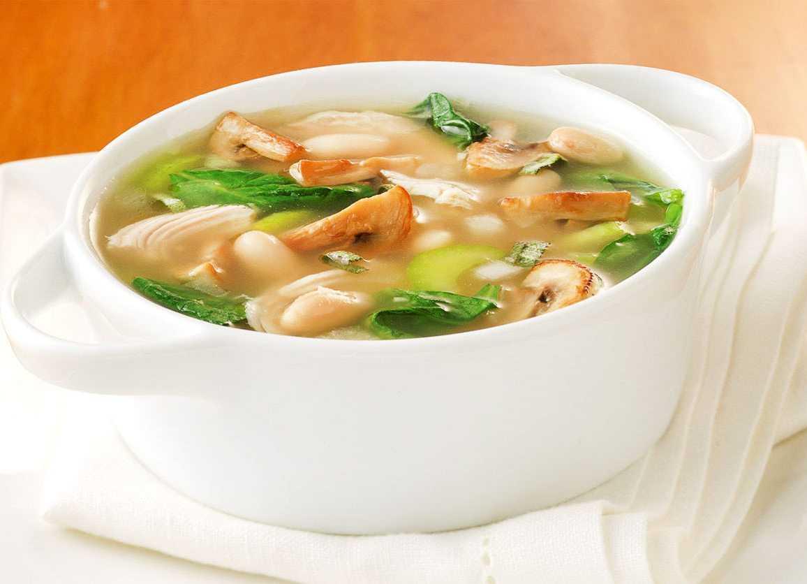 Суп с шампиньонами и вермишелью - 6 пошаговых фото в рецепте