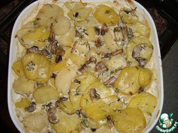 Жареная картошка с мясом на сковороде, рецепт