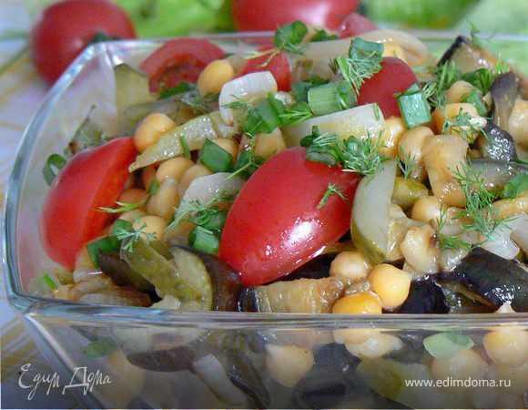 Готовим салат из баклажанов и нута: поиск по ингредиентам, советы, отзывы, пошаговые фото, подсчет калорий, удобная печать, изменение порций, похожие рецепты