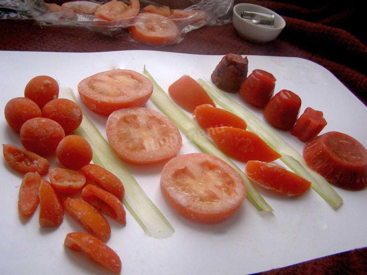 Как заморозить помидоры на зиму в домашних условиях: советы