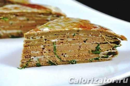 Печеночный торт из свиной печени рецепт с фото - 1000.menu