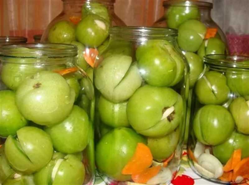 Салат из зелёных помидоров с болгарским перцем на зиму рецепт с фото пошагово и видео - 1000.menu
