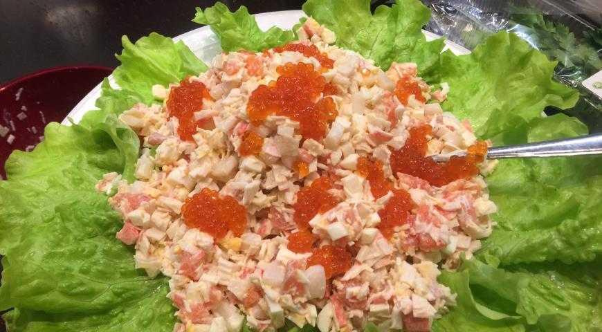 Салат морская звезда: рецепт с красной рыбой, пошаговый с фото