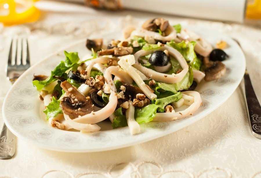Салат из шампиньонов вкусный