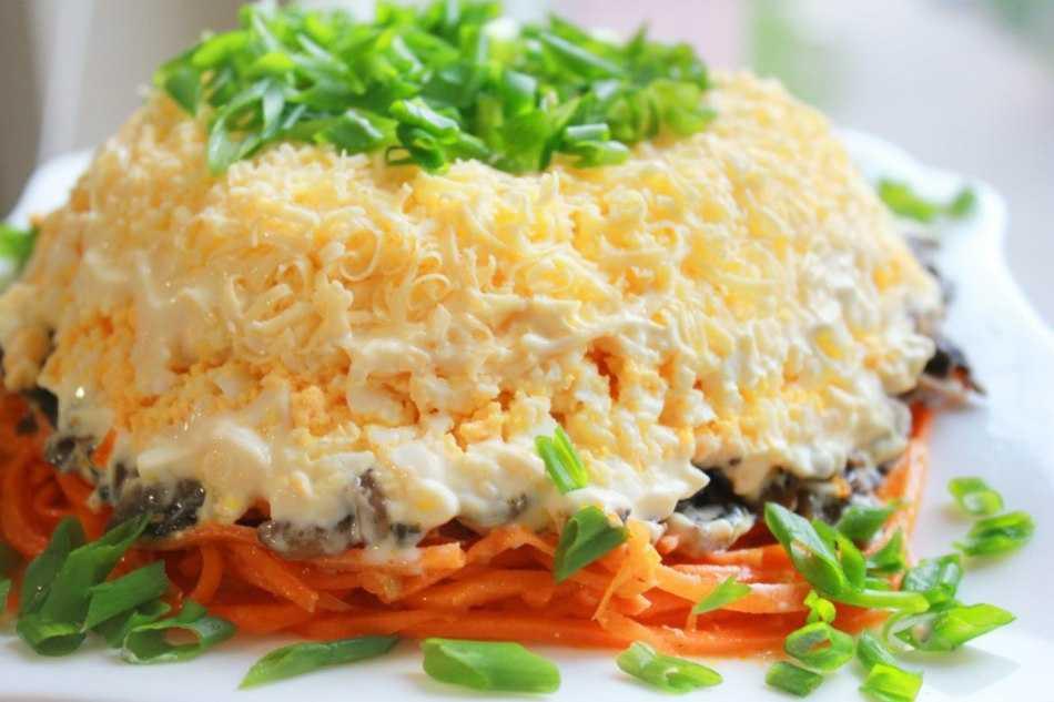 Салат с грибами и курицей — 7 рецептов приготовления очень вкусных салатов