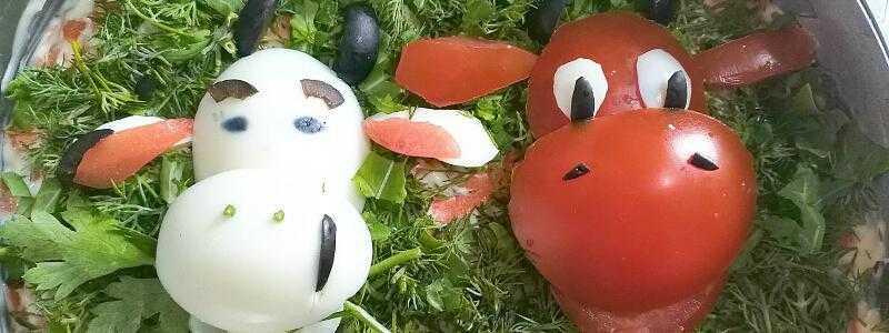 Салат снежные сугробы с курицей и грибами рецепт с фото - 1000.menu