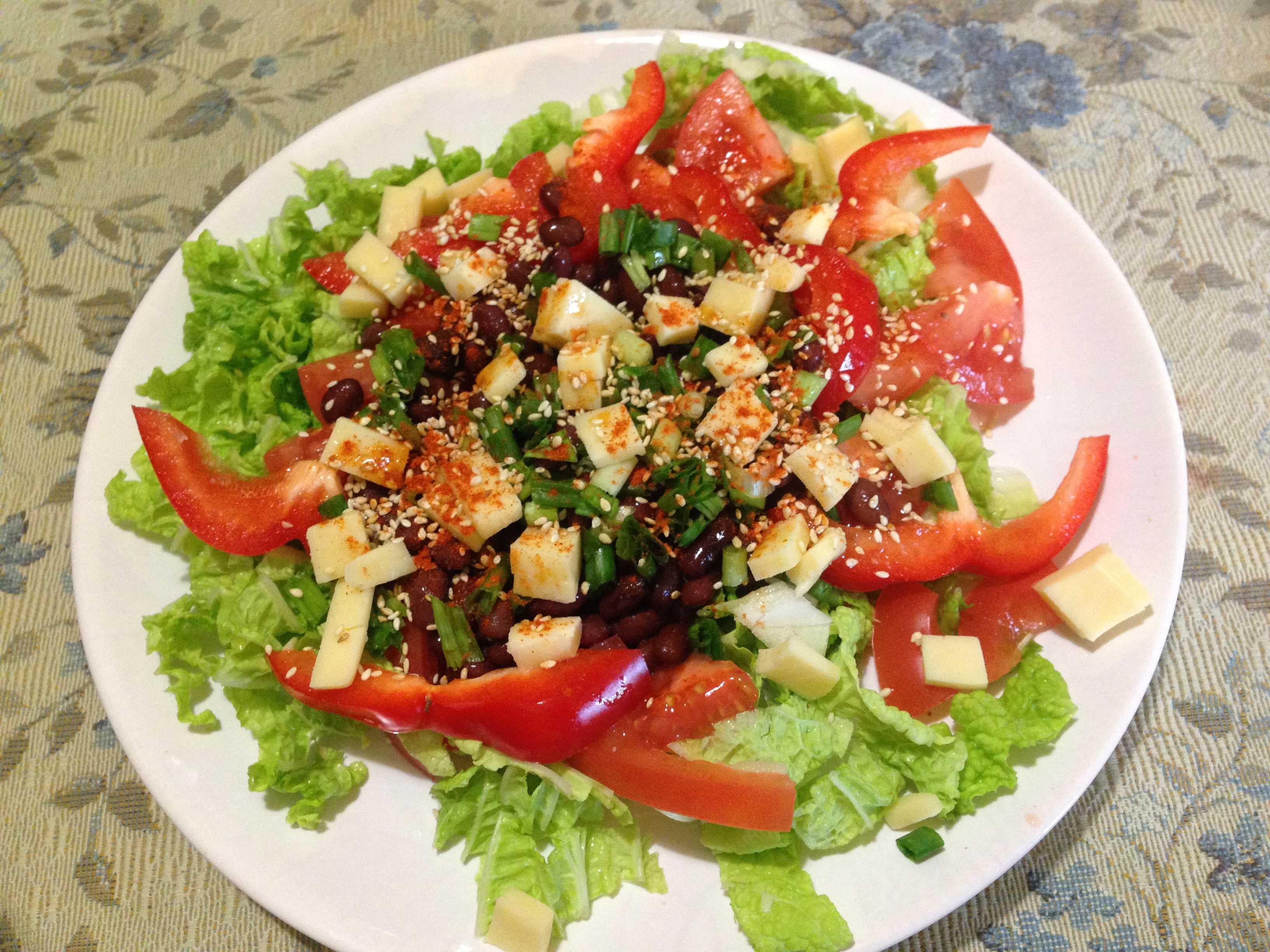 Салат с красной фасолью: рецепты