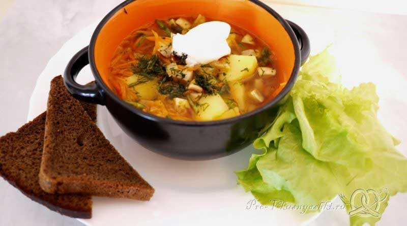 Сырный суп с курицей и шампиньонами в мультиварке