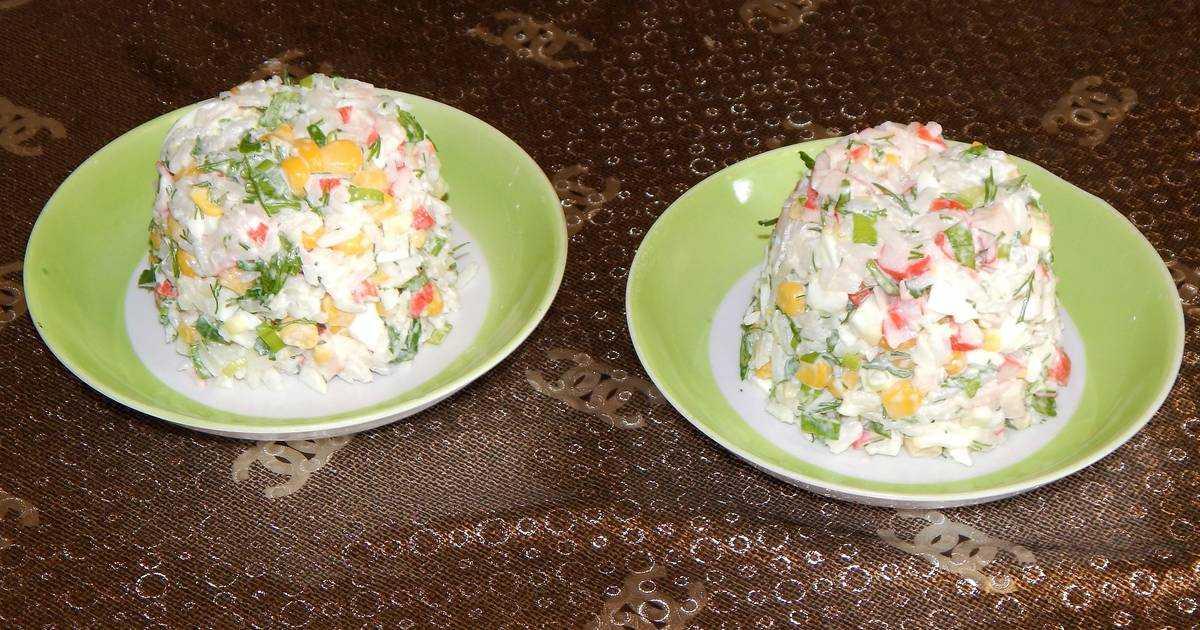 Классический крабовый салат с рисом - пошаговый рецепт с фото